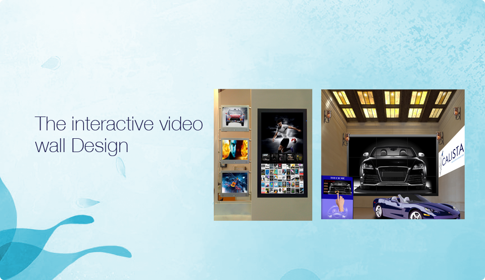 The interactive video wall Design